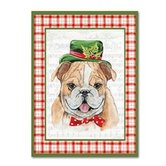 'Christmas Song Dogs 3' Graphic Art Print on Wrapped Canvas