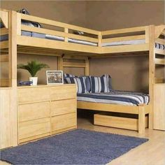 Bunk Bed Plans: How to create A wooden Bunk Bed Basics plans & projects Bunk beds would be the fantastic answer for two kids in 1 room. A bunk bed will Build A Loft Bed, Loft Bed Plans, Loft Bunk Beds, Bunk Bed With Desk, Modern Bunk Beds, Bunk Beds With Stairs, Kids Bunk Beds, Corner Bunk Beds, Bedroom Modern