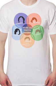 Venn Diagram Breakfast Club T-Shirt: 80s Movis: Breakfast Club Shirts