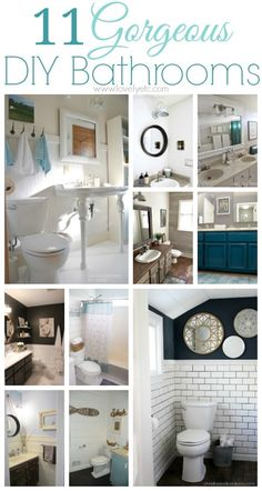11 Gorgeous DIY Bathroom Renovations - Lovely Etc. - The best DIY bathroom renovations. It is amazing how much you can do with some paint, tile, and acc - Diy Bathroom Remodel, Diy Bathroom Decor, Budget Bathroom, Bathroom Renovations, Bathroom Furniture, Small Bathroom, Diy Furniture, Diy Home Decor, Bathroom Ideas