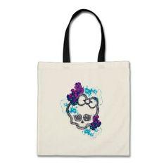 Floral Skullette Logo Budget Tote Bag