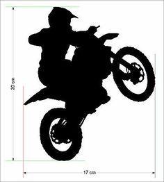 8 Moto X Rider Removable Wall ART Home Decor Sticker Motocross Kids Motorbike