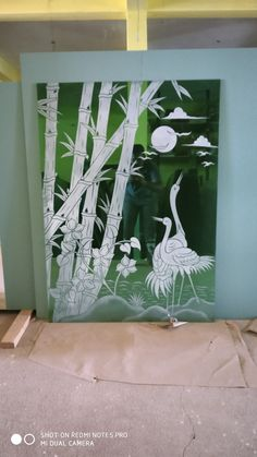 Glass Etching Designs, Glass Painting Designs, Paint Designs, Glass Partition Designs, Glass Design, Glass Door, Glass Art, Ceramic Wall Art, Grill Design