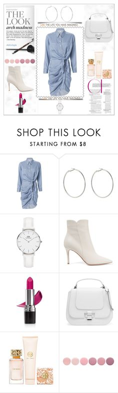 """Right by my side"" by avo33avo ❤ liked on Polyvore featuring Veronica Beard, Kenneth Jay Lane, Daniel Wellington, Gianvito Rossi, Avon, Tory Burch and Deborah Lippmann"