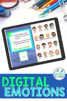 Character Emotions Charts don't just help improve students' reading comprehension, they also enhance writing. The digital task cards provide engaging comprehension and fluency practice. Students use reading response sheets to analyze the characters' emotions. The digital interactive notebook pages build vocabulary as elementary students record synonyms for common feelings words. Make distance learning fun with these digital literacy activities! #thereadingroundup #digitallearning Teaching Reading Strategies, Comprehension Strategies, Reading Resources, Reading Comprehension, Fluency Activities, Vocabulary Activities, Fourth Grade, Second Grade, Emotion Words