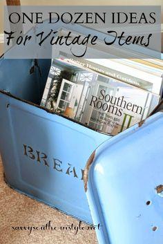 One Dozen Ideas for Vintage Items