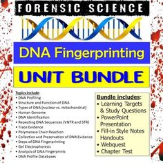 This bundle includes all products from my Forensic Science DNA Fingerprinting Unit.This bundle includes:• Learning Targets and Study Questions• PowerPoint Presentation• Fill-in Style Notes Handouts• DNA Fingerprinting Webquest• Chapter Test*Vocabulary Assignment is sold separately in the Forensic Sc... Dna Fingerprinting, Mitochondrial Dna, Human Genome, Learning Targets, Forensic Science, Forensics, Study Notes, Vocabulary, Fill