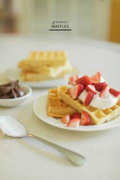 Jacquelyn's Grandma's World Famous Waffles!  Read more - http://www.stylemepretty.com/living/2013/08/02/grandmas-waffles/
