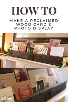 Put all of your holiday cards from family and loved ones on display with this DIY wooden display!