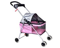 Eight24hours New Cute Pink Posh Pet Stroller Dogs Cats  Cup Holder >>> Click on the image for additional details.(This is an Amazon affiliate link and I receive a commission for the sales)