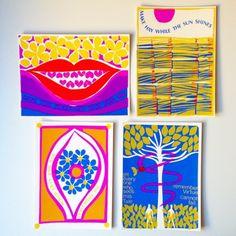 Osborn/Woods screen prints from 1966.   Via Lisa Congdon's Instagram.