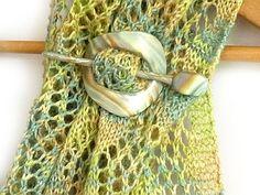 polyclay shawl pin tutorial