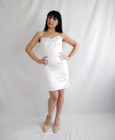 Short wedding dress ivory wedding dress 50s wedding by AliceCloset