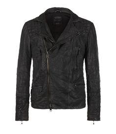 Cargo Biker Leather Jacket, Hombre, Cuero, AllSaints Spitalfields
