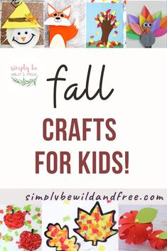 Tons of fall crafts for kids!! From simple leaf crafts to pumpkin crafts and apple crafts! Autumn craft ideas. #craftsforkids #kidcrafts #homeschoolcrafts #fallcrafts #fallcraftideas #applecrafts #pumpkincrafts #leafcrafts #treecrafts #animalcrafts #scarecrowcrafts #turkeycrafts #thanksgivingcrafts Fall Arts And Crafts, Easy Fall Crafts, Crafts For Kids To Make, Fall Diy, Kids Crafts, Apple Crafts, Leaf Crafts, Pumpkin Crafts, Autumn Activities For Kids