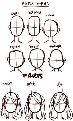 heads ✤ || CHARACTER DESIGN REFERENCES | キャラクターデザイン • Find more at www.facebook.com/… if you're looking for: