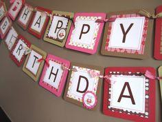 Owl Happy Birthday Banner Custom Made Party Decoration