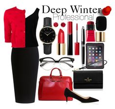 """""""Professional Deep Winter"""" by prettyyourworld ❤ liked on Polyvore featuring Theory, Griffin, Kate Spade, ADAM, Valentino, Montblanc, Lodis, Giorgio Armani, ROSEFIELD and Prada"""