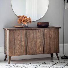 Nothing quite beats solid oak; the look and the feel truly enhance any style of home. The Chiswick Oak sideboard has a solid oak top and brushed metal legs. Dining Room Sideboard, Oak Sideboard, Console, Side Board, Form Design, Industrial Furniture, Wood Furniture, Hudson Furniture, Industrial Interiors