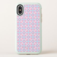 Cute Pink Purple & Light Blue Pattern OtterBox Symmetry iPhone X Case - light gifts template style unique special diy