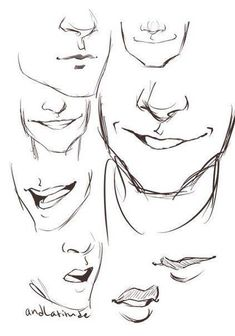 Man mouth smile drawing, drawing men face, drawing face expressions, cartoon drawings of Smile Drawing, Mouth Drawing, Guy Drawing, Character Drawing, Drawing People, Drawing Tips, Drawing Sketches, Drawing Tutorials, Drawing Ideas