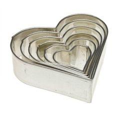 Heart Cookie Cutter, Set of 6