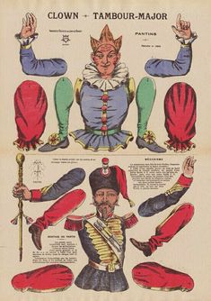 Victorian Paper Dolls, Vintage Paper Dolls, Paper Puppets, Jumping Jacks, Paper Houses, Diorama, Rooster, Christmas Decorations, Paper Crafts