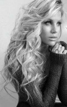 Long natural blond locks