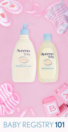 Looking for some inspiration for that baby shower registry? Give baby the gift of soft, healthy skin with AVEENO® Baby Wash & Shampoo and Daily Moisture Lotion. They're both pediatrician recommended and work together to keep baby's skin soft and healthy looking.