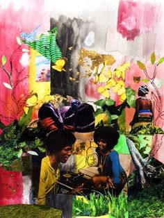 "Saatchi Online Artist Krista Franklin; Mixed Media, ""lush life"" #art"