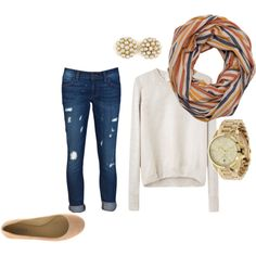 A fashion look from August 2012 featuring 3.1 Phillip Lim sweaters, Siwy jeans and Vera Wang Lavender Label flats. Browse and shop related looks.