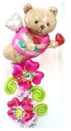 Arreglo Jumbo #Oso #Cupido Oferta del Mes!!! www.globocentro.com.gt Happy Birthday Bouquet, Balloons, Teddy Bear, Halloween, Toys, Amor, November, Activity Toys, Globes