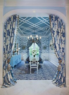 Ceiling detail. Palm Beach Chic By Wendy Valliere - The Glam Pad