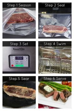 Sous Vide 6 Step Process I can't wait to try this out.