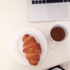 #pause and relax and eat croissants