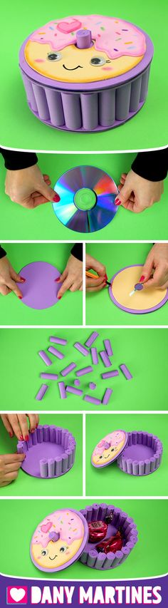 Manualidades Pregnancy pregnancy or period Foam Crafts, Diy And Crafts, Crafts For Kids, Diy Donuts, Gift Bouquet, Creative Box, Newspaper Crafts, Ideas Para Fiestas, Diy Art