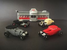 Lego Hot Rods at the Drive-In | by Jonathan Ẹlliott