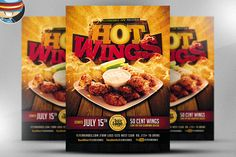 Hot Wings Flyer Template @creativework247