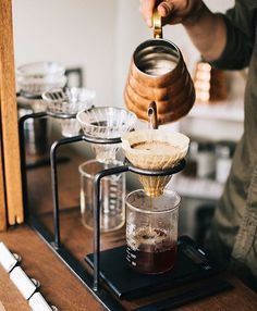 V60 Station ready to brew the best. Absolutely Amazing ☕️ // For more coffee…