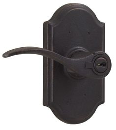 Weslock 7140H-LH Carlow Left Handed Keyed Entry Door Lever Set with Premiere Ros Oil Rubbed Bronze leverset Keyed Entry Single Cylinder