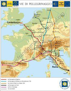 Ass. Int. Via Francigena  pilgrimages to Rome | http://www.landschapreisboekwinkel.nl/ean/9788889385609