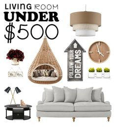 """""""Living room '"""" by sensiiii ❤ liked on Polyvore featuring interior, interiors, interior design, home, home decor, interior decorating, Furinno, Threshold, Frontgate and Home Decorators Collection"""