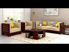 Wooden Sofa Set Designs With Price : Shop Sheesham Wooden Sofa Set in UK at Best Prices. Modern Wooden Sofa with Storage, Solid Wood Sofa for Living Room Home Decor Furniture, Sofa Furniture, Living Room Furniture, Furniture Design, Living Room Sofa Design, Living Room Designs, Wooden Sofa Set Designs, Indian Living Rooms, Wood Sofa