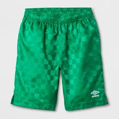 7dd662ef0 Equip the soccer stars in your family to score the winning goal with the  Checkerboard Shorts from Umbro. These blue athletic shorts feature a  stylish ...