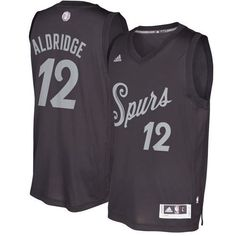 5b600bd0ee0 Spurs  12 LaMarcus Aldridge Black 2016-2017 Christmas Day Stitched NBA  Jersey