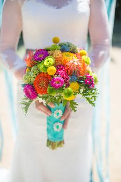 A whimsical and vibrant watercolor wonderland wedding styled shoot by Wheeland Photography