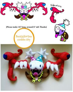 Toy made from drawing. Bug, kirby commissioned plush, Beetle plushie, Stag Beetle,insect stuffed , Ladybird plus, Butterfly  Marx Soul plush