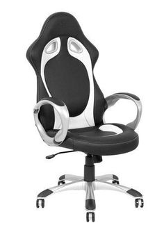 BUCKET-RACING-CAR-SEAT-OFFICE-COMPUTER-CHAIR-BLACK-RED-WHITE-BROWN-PU-LEATHER