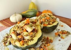 Apple lentil stuffed acorn squash ~running to the kitchen, currently the only blog I follow :)