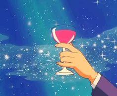 ゴーストムーン Aesthetic Drawing, Aesthetic Gif, Retro Aesthetic, Aesthetic Pictures, Gifs, Sailor Moon Gif, Sailor Moon Aesthetic, Blue Anime, Ghibli Movies